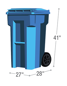 Sort Free Recycling cart for trash service for your home