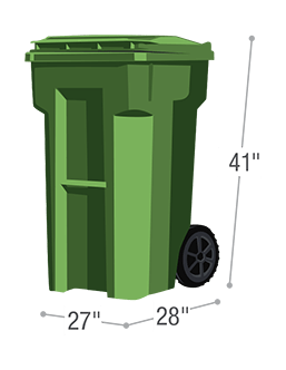 65 gallon residential trash service cart